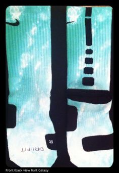 Mint Galaxy custom Nike Elite Socks by TheSickestSocks on Etsy, $36.99