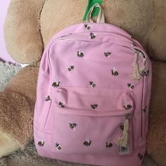 3ed8588d7a8 Depop - The creative community s mobile marketplace. Bee EmbroideryPastel  PinkUniBeesBackpacksBackpack ...