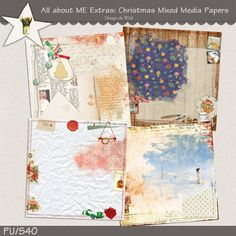 All about ME Extras: Christmas Mixed Media Papers | Designs de Wild