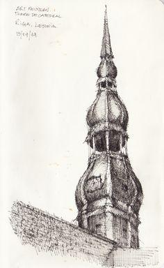 Croquis - Riga - por Facundo Alvarez