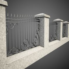 wrought iron fence metal model Source by House Fence Design, Front Gate Design, Railing Design, Garden Design, Rod Iron Fences, Wrought Iron Fences, Iron Fence Panels, Iron Fence Gate, Metal Gates
