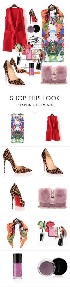 """""""Tropical and Leopard"""" by fabianajuan ❤ liked on Polyvore featuring Dsquared2, WithChic, Christian Louboutin, Valentino and Mary Kay"""