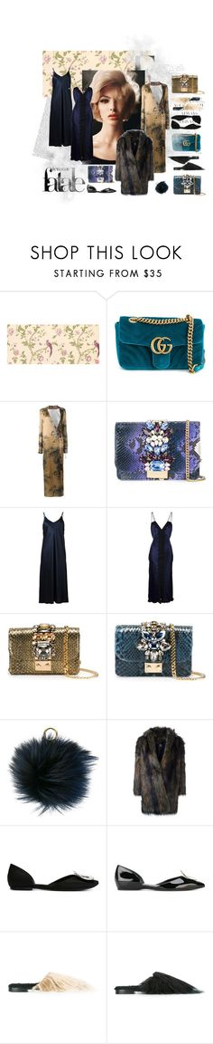 """""""Femme Fatale"""" by tessabit ❤ liked on Polyvore featuring Laura Ashley, Gucci, Attico, GEDEBE, Helmut Lang, Dondup, MICHAEL Michael Kors, Paul Smith, Roger Vivier and Avec Modération"""