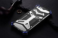 Mate Crescent Knife Shockproof Mirror Aluminum Metal Case for Apple iPhone 6S/6 & iPhone 6S Plus/6 Plus