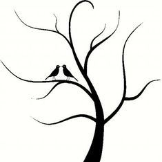 tree stencils | Tree with Birds Vinyl Decal | Car Decal | Bedroom Decals | The Wall ...