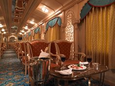 Golden Chariot Lounge by Train Chartering  Private Rail Cars, via Flickr