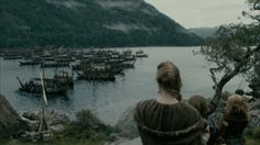#aslaug #bye #ship #harbor #water #sailing #raid #thor #odin #norse #battle #history #vikings #tv #television gif #gif set