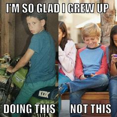 my kids will have phones but they gonna rather be ridin'