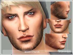 Beard Style 25 by Serpentrogue at TSR via Sims 4 Updates
