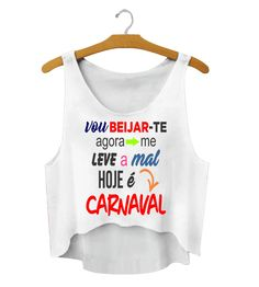 Cropped Personalizada para o Carnaval