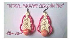 """Tutorial macramè orecchini """"Aris""""/Tutorial macramé earrings """"Aris""""/Diy t..."""