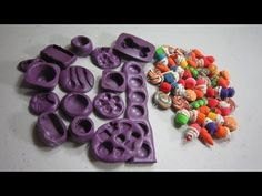 How to make silicone molds for polymer clay miniatures - EP - YouTube