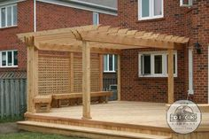 Grill half pergola, privacy - Google Search