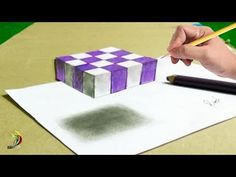 Very easy to draw floating chess on paper. Learn step by step with slow video tutorial. Step by step drawing tutorials for kids - how to draw floating chess . 3d Illusion Drawing, 3d Art Drawing, Drawing Letters, Paper Drawing, 3d Drawings, Art Drawings Sketches Simple, Paper Art, Pencil Drawings, Paper Crafts