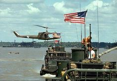 Sang Haam Luong River, Vietnam --- An American Navy Tango boat on the Sang Haam Luong River, also known as the Lower Mekong River. Vietnam History, Vietnam War Photos, Us Veterans, Vietnam Veterans, Military Veterans, American War, American History, Brown Water Navy, North Vietnam