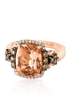 Le vian 14k strawberry gold morganite sea blue for Belk fine jewelry rings