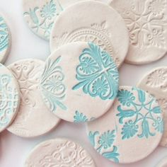Brighten up your fridge with these stamped clay magnets made from air hardening clay.