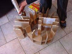 tuto très explicatif sur la construction d'un meuble en carton