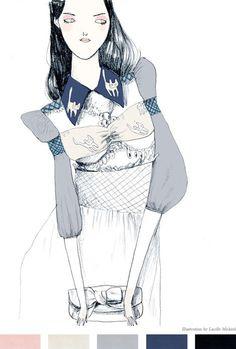 Mui Mui illustration by Lucielle Michieli (found via Lucielle on Pinterest).