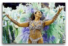 A dancer during Carneval in Rio de Janeiro