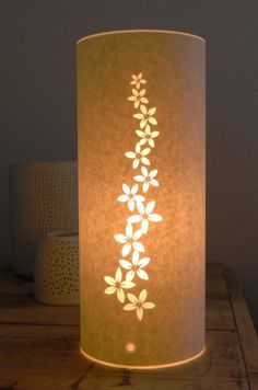 Items similar to Small Goldenrod table lamp on Etsy Candle Lanterns, Paper Lanterns, Night Table Lamps, Pipe Lighting, Ethnic Decor, Nightstand Lamp, Wooden Lamp, Candle Stand, Bottle Painting