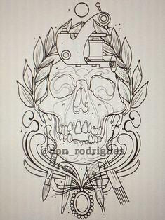 Olá Pessoal! Vou postar aqui mais uma tatuagem passo a passo para quem quiser se inspirar e poder ter idéias para as suas criações e tatuage...