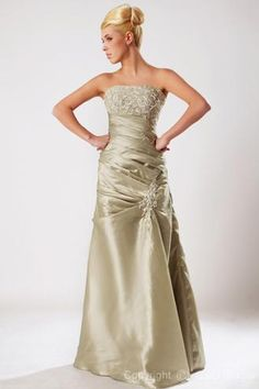 (CLICK IMAGE TWICE FOR DETAILS AND PRICING) #women #womensdresses #bridaldress   #weddingattire #weddings #brides #ladiesdresses #ladiesdress  #bridetobe #prom #promdresses #partydress  Elegant A-line Strapless Floor-length Taffeta Evening Dress SAL1600-G - See More Strapless Womens dresses at  http://www.zbrands.com/Strapless-Womens-Dresses-C60.aspx