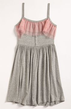 This dress is so cute! I love gray and pink together, I am getting this for Angelina. Mignone Tank Dress available at Nordstrom.