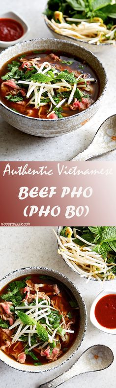 Authentic beef pho (pho bo) that will captivate you with its aroma and the taste that seamlessly combines salty, sweet, and umami all in one.