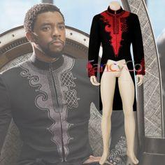 6e08aa8fd6c Black Panther Costume Marvel Tailcoat Men Halloween cosplay TChalla DC  Cosplay Wakanda King Anime Movie Jacket