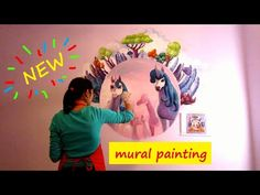 ENG The Unicorns from Centopia - Mia and Me-TV series - mural painting project made in 8 hours using acrylic colors. Mural Painting, Mural Art, Kids Room Paint, Gustav Klimt, 8 Hours, Me Tv, Acrylic Colors, Cute Little Girls, Acrylics