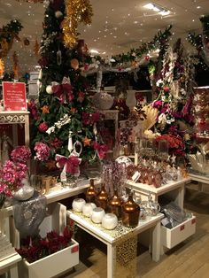 Shopfittings - retail shop display tables. Create a beautiful Christmas display with a selection of wooden tables. View our range of new shop fittings and used shopfittings. #shopfittings #usedshopfittings