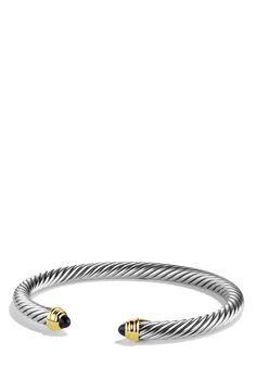 David Yurman 'Cable Classics' Bracelet with Semiprecious Stones
