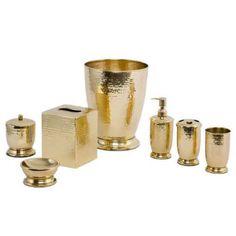 Loren Brass Hammered Bath Accessories by Paradigm Trends