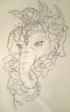 Tattoo elephant drawing trunks 46 Ideas for 2019 Cat Tattoo Designs, Elephant Tattoo Design, Tattoo Design Drawings, Elephant Tattoos, Pencil Art Drawings, Drawing Sketches, Mandala Elephant Tattoo, Kunst Tattoos, Body Art Tattoos