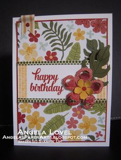 Botanicals suite 2016 Stampin' Up! Occasions catalogue sneak peek. #angelaspaperarts My online store: http://angelaspaperarts.stampinup.net
