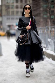 I look e le foto street style dalla New York Fashion Week Autunno Inverno 2017-2018