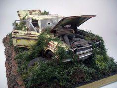 1964 Ford Thunderbolt Custom Weathered Diorama ACME 1/18 Scale Diecast Barn Find #ACME