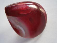Statement Ring,rot,Achat,Naturschmuck,großer Ring von kunstpause auf DaWanda.com