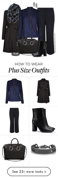 """""""Plus Size - Black & Blue"""" by alexawebb on Polyvore featuring City Chic, Buji Baja, Givenchy, Tory Burch, DANNIJO and Marc by Marc Jacobs"""