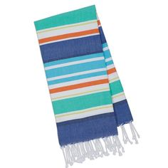 Beachy Blue Stripes Fouta Towel - Small - Design Imports // www.designimports.com
