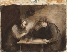 Great Works: Two Drinkers (Deux Buveurs) By Honoré Daumier, 1860-4 - Great Works - Art - The Independent