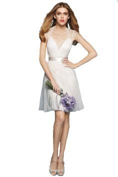 139.00$  Watch here - http://viair.justgood.pw/vig/item.php?t=vjwyov52676 - Cheap Ivory Lace Short Wedding Dresses,Wedding Gown,Bridal Dress 2017 139.00$