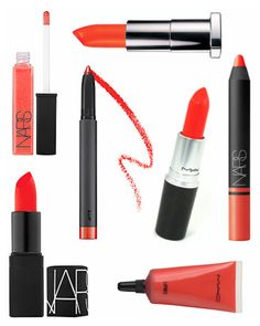 NARS Lipstick in Heat Wave / Bite Beauty Matte Crème Lip Crayon in Clementine... A hot lip is the only kind that goes with a SWINN bra