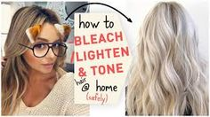 Update from Oloplex, now Redken How To Bleach / Lighten & Tone Hair at Home (Safely) Tone Hair At Home, Lighten Hair At Home, Dying Hair At Home, How To Dye Hair At Home, At Home Hair Color, Diy Bleach Hair, Diy Hair Dye, Dye My Hair, How To Lighten Blonde Hair