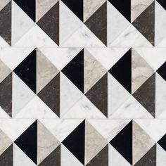Arbus stone mosaic, shown in polished Socorro Grey, Nero Marquina, Carrara, and honed Cavern Floor Patterns, Wall Patterns, Textures Patterns, Stone Mosaic, Stone Tiles, Marble Mosaic, New Ravenna, Terrazo, Stone Flooring