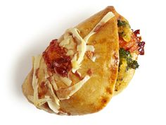 Broccoli-Cheddar Pockets : Roll out refrigerated pizza dough to 1