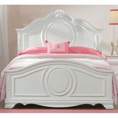 Jessica White Traditional Twin Bed