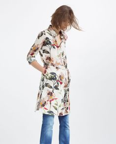PRINTED TUNIC WITH SLITS-View All-DRESSES-WOMAN | ZARA United States