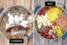 Dinner's on! My Cowboy Stew recipe combines three types of tender meat with beans & veggies in a one-pot wonder delicious enough to everyone! #SouthernRecipe #Stew #Soup #CowboyStew #OnePotMeal Beef Recipes For Dinner, Healthy Soup Recipes, Chili Recipes, Crockpot Recipes, Cooker Recipes, Crockpot Dishes, Apple Recipes, Fish Recipes, Meat Recipes